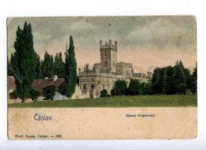 174107 CZECH CASLAV Zamek Filipovsky Vintage postcard
