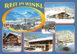 Reit im Winkl, Kaisergebirge Gasthaus Pension Winter Auto Gesamtansicht