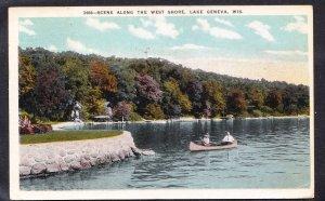 DOLLAR BOX – WI – Lake Geneca West Shore - 1923