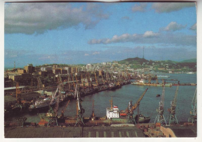 P697 1988 russia shipping port ship view