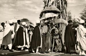 ethiopia, ADDIS ABABA, The Feast of Mascal (1940s) RPPC