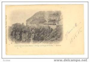 Railroad On Cliff, Ligne de Voiron A Saint Beron, Passage aux Gorges de Chail...
