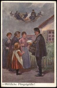 Austria WWI Feldpost Service Illustration Patriotic Card 77348