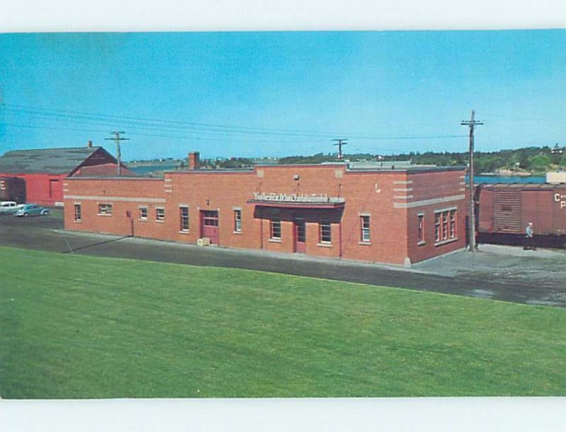 Unused Pre-1980 TRAIN DEPOT STATION Yarmouth Nova Scotia NS F9961