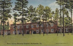 Martinsville Henry County Memorial Hospital Martinsville California 1942