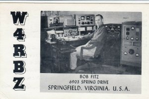 SPRINGFIELD , Virginia , 1961 ; QSR Card, Bob Fitz