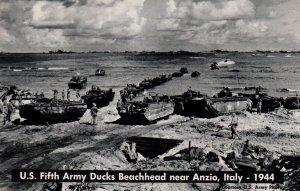 US Fifth Army Ducks Beachead Near Anzio,Italy 1944