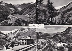 RP, 4-Views, ALP GRUM (2200 m) Gegen Das Puschlav Und Piz Palu (3912m), Switz...