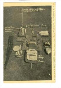 Full Pack Equipment, Open For Inspection, Camp Wadsworth, Spartanburg, South ...