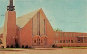 Bonham Texas First Methodist Church Street View Vintage Postcard K103168