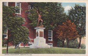 ANNAPOLIS, Maryland, 1910-1930s; Dekalb Monument