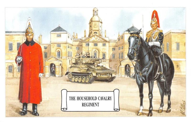 Postcard The Household Cavalry Regiment, The Life Guards, Tank by Geoff White