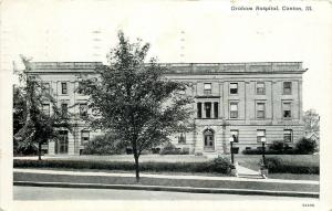 Canton Illinois~Graham Hospial~1935 B&W Postcard
