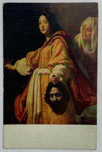 Old Rare Postcard Fratelli Alinari Print Art Judith Beheading Holofernes