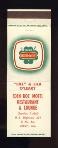 Eden Roc Motel & Restaurant Match Cover/Matchbook, Jessup, Georgia/GA, 1950's?