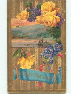 Divided-Back BEAUTIFUL FLOWERS SCENE Great Postcard AA4046