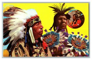 American Indian Scenes Vintage Standard View Postcard