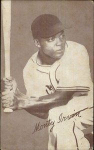 Black Baseball Player Monty Irvin Exhibit Mutoscope Card