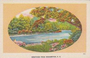 South Carolina Summerton Greetings From Summerton