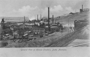 General View of Heinze Smelters BUTTE Montana Mining c1900s Vintage Postcard