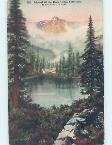 Divided-back NATURE Mount Holy Cross - Near Leadville & Vail & Denver CO AD8397