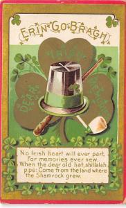 No Irish Hear will ever part St. Patricks Day Postcard postal used unkown