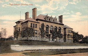 HIGH SCHOOL Ottumwa, Iowa Vintage Postcard ca 1910s