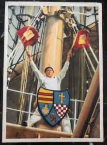 Mint Germany Navy Real Picture Postcard Kriegsmarine Signalman Flags Ship