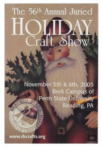 56th Holiday Craft Show Reading PA Modern Advert Postcard