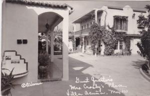 RP: Guest Quarters, Mrs. Crosby's Place, Villa Acuna , Coah. Mexico 1922