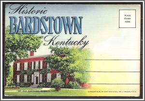 Kentucky, Bardstown Large Alphabet Souvenir Folder
