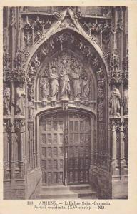 France Amiens L'Eglise Saint Germain Portail occidental