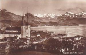 Schweiz Luzern und die Alpen