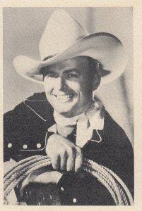 UNIVERSAL CITY Studios, California, 1930s; Portrait of Bob Barker singing cowboy