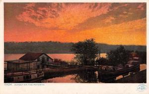 Potomac Maryland Sunset Waterfront Detroit Antique Postcard K107985