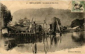 CPA AK INDOCHINA Cap St.Jacques Les abords du Binh Dinh VIETNAM (957409)