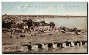 Old Postcard Sables d'Olonne Vendee Panorama of the Beach