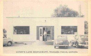 Lundy's Lane Restaurant Cars Niagara Falls Canada 1940s postcard