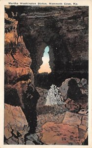Caves Post Card Martha Washington Statue Mammoth Cave National Park, Kentucky...