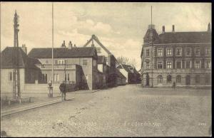 denmark, FREDERIKHAVN, Havnepladsen og Havnegade (1910)