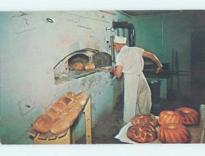 Pre-1980 HAHN'S BAKERY MAKING BREAD Amana Iowa IA hn4835