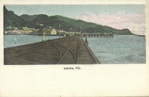 fiji islands, LEVUKA, Railway Bridge, Panorama (1910s)
