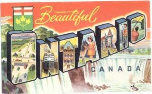 Beautiful Ontario Canada LARGE LETTERS