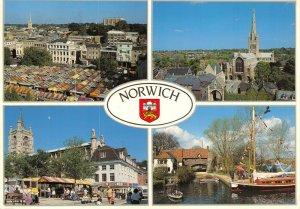 Norfolk Multi View Postcard, Norwich, A Fine City GO6