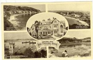 RP, 5 Views, Greetings From The Gwendra Hotel, Falmouth, Cornwall, England, U...