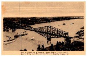Quebec ,  Quebec Bridge over St.Lawrence River