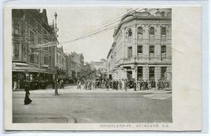 Shortland Street Auckland New Zealand 1910c postcard