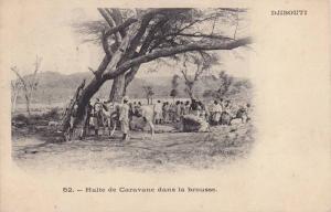 Djibouti , 1890s ; Halte de Caravane dans la brousse