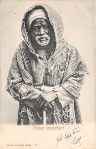 B84779 vieux mendiant tunisia   folklore types beggars africa