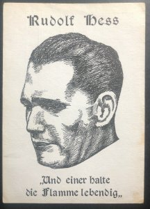 Mint Germany Picture Postcard Rudolf Hess and one balt the flame alive